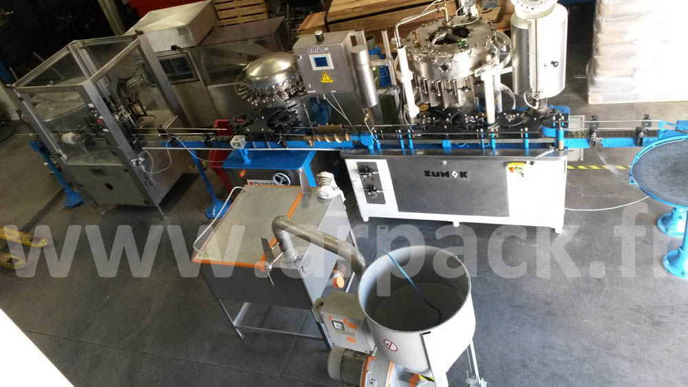 Isobarometric bottling line for beer and soft drinks