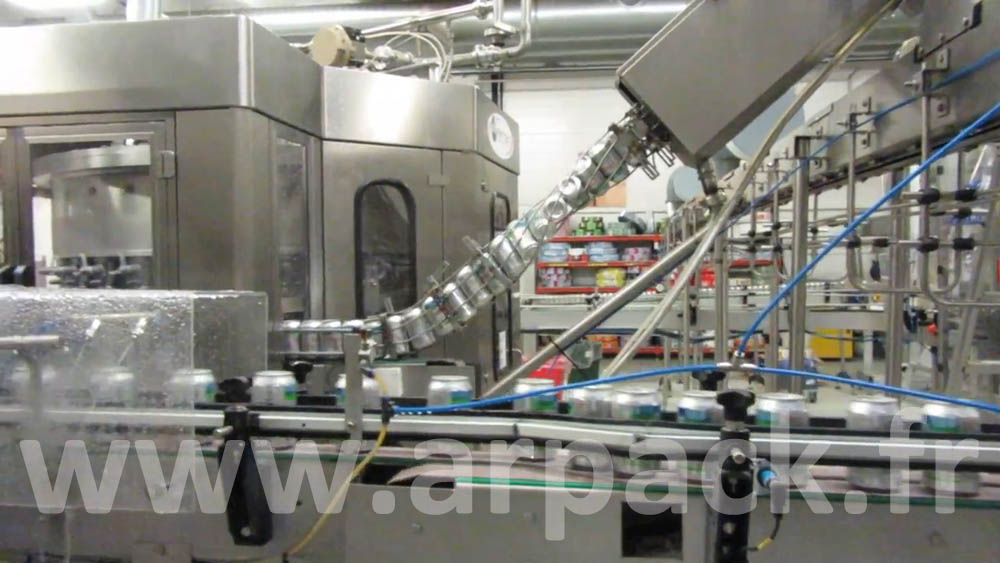 Beer or soft drink bottling line in can 33 cl