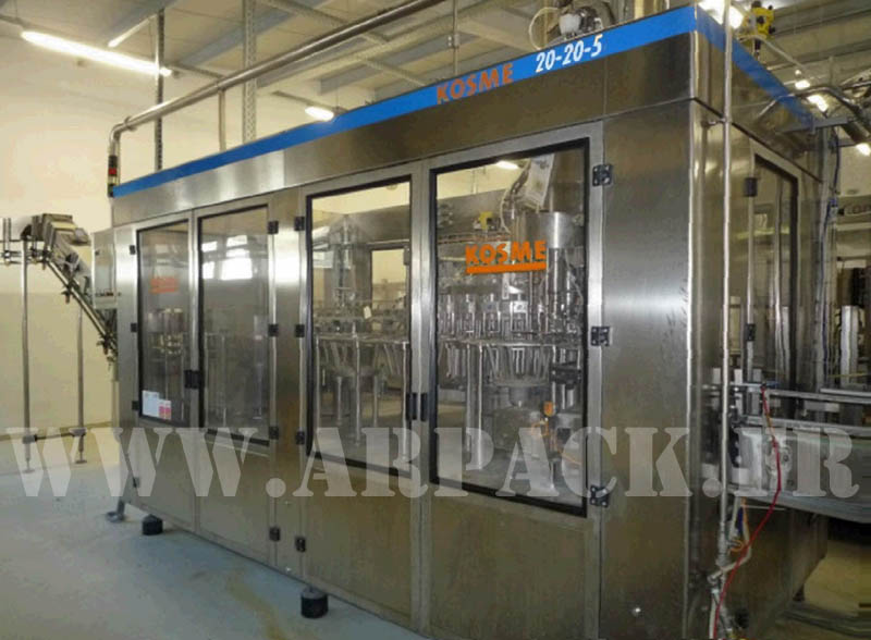 Used bottling line for PET bottle carbonated or still water or drinks