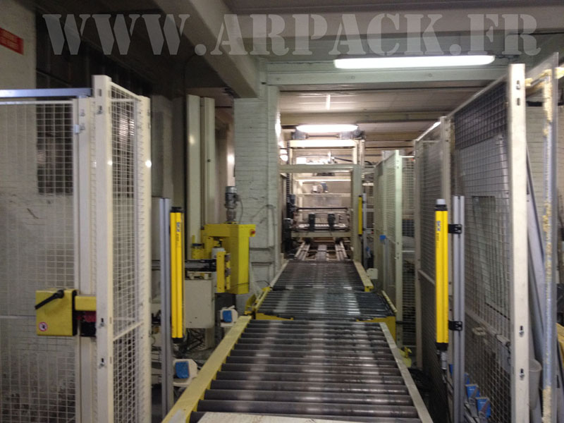 Used Wrapping Atecmaa / tray pallet Filmeuse turning Atecmaa